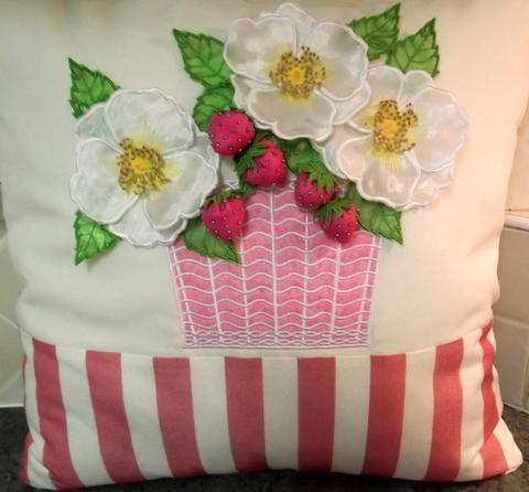 Strawberry and Roses Cushion