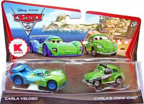 Disney / Pixar CARS 2 Movie Exclusive 155 Die Cast Car 2Pack Carla Veloso Carlas Crew Chief. #Disney #Pixar #CARS #Movie #Exclusive #Cast #Pack #Carla #Veloso #Carlas #Crew #Chief