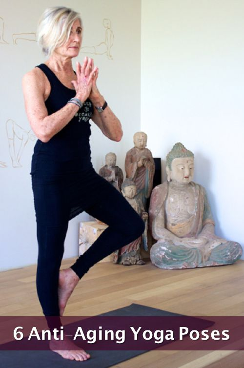 6 anti aging yoga poses   improvedaging   6 anti