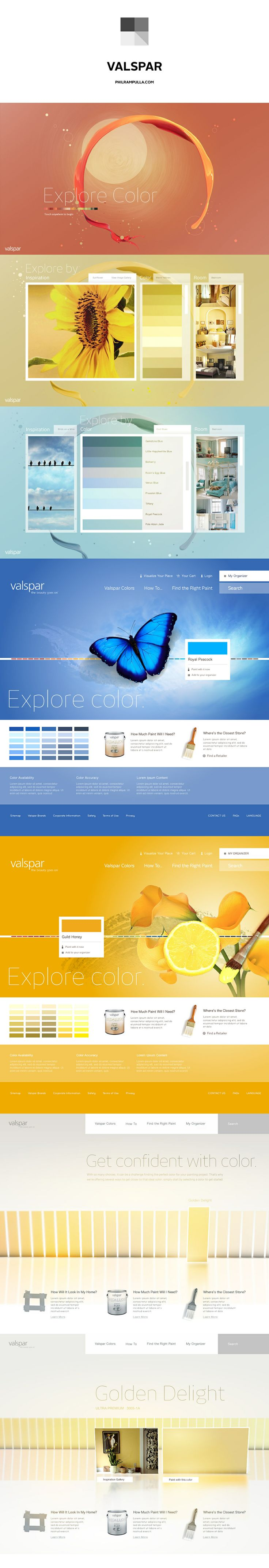 Valspar - Explore Color Website and Kiosk design by Phil Rampulla  www.philrampulla.com