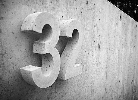 Beton Hausnummern hochwertig wetterfest und langle…