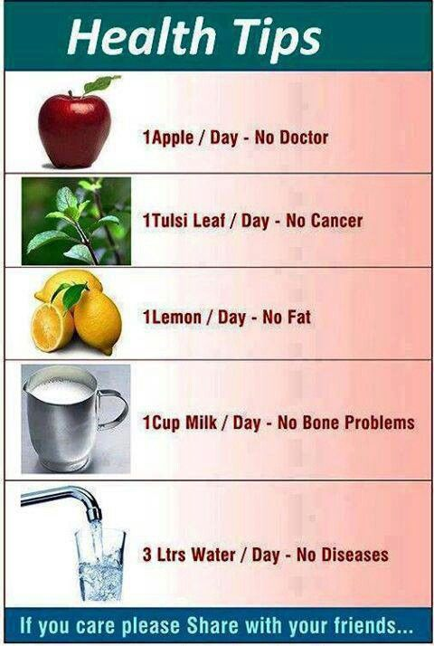 Health tips day to day needs