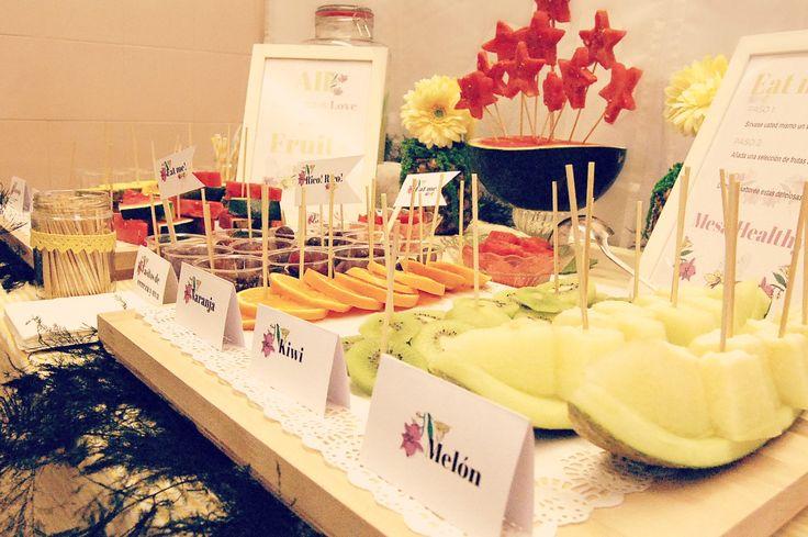 Mesa catering. Mesa healthy.  Frutas. Evento Pop up de Kachonwaa by El Balcón de Alicia #felipeandozaragoza