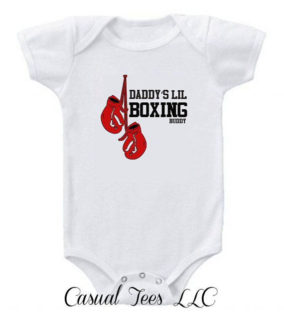 MOMMY'S Little Boxing Buddy Funny Baby Bodysuit  by CasualTeeCo, $14.00