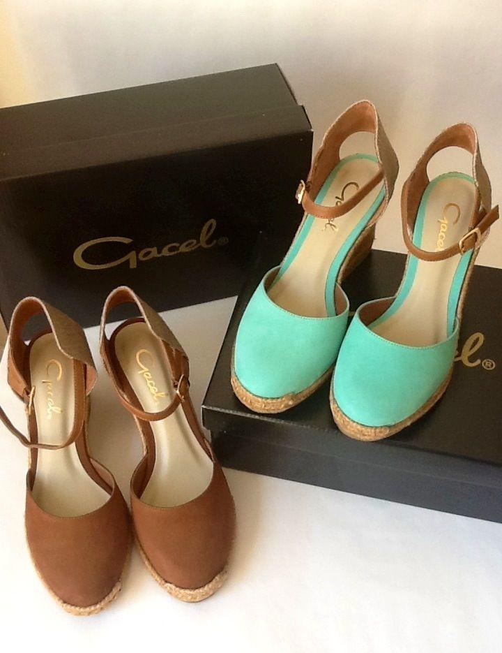 Mis nuevos zapatos #Gacel #sandalias #rafia #plataforma #verdememta