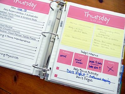 I like these Daily pages!Households Binder, Home Organic, Families Organic, Families Binder Organic, Organic Printables, Home Binder, Families Planners, Families Plans, Free Printables