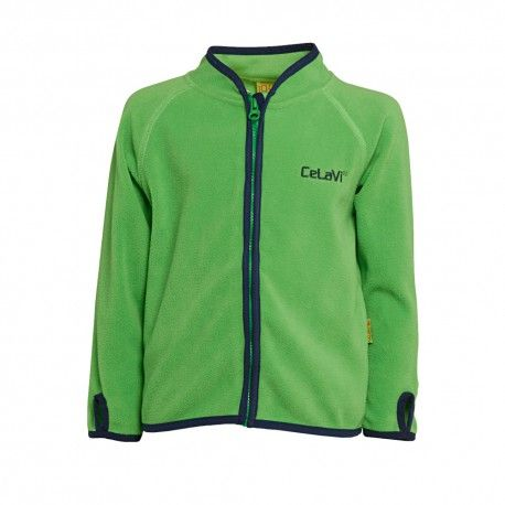 Fleece Jacket with zipper, green, Celavi