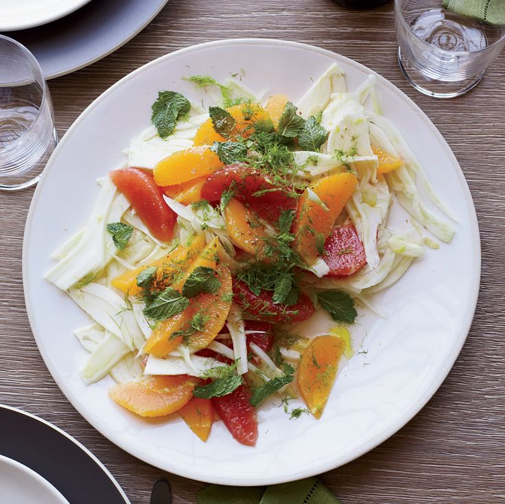 Simple Fennel and Citrus Salad with Mint