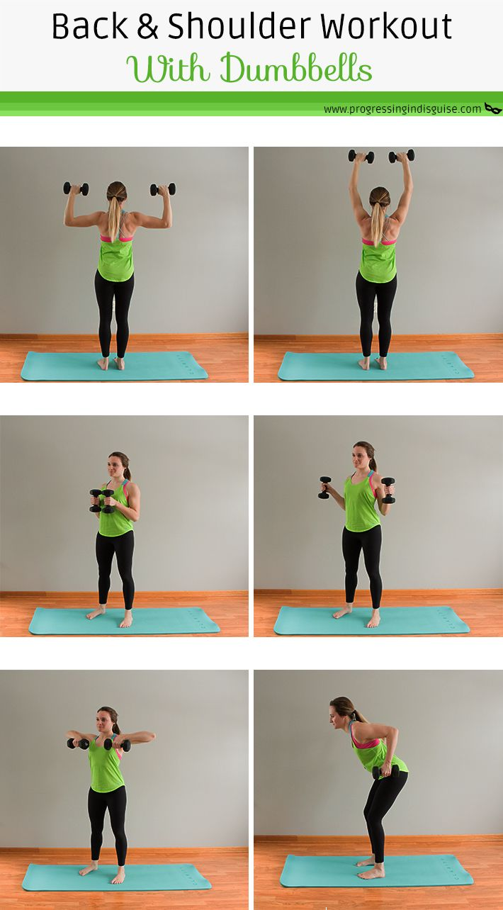 Pin On Stomach Workout: Back And Shoulder Workout With Dumbbells -