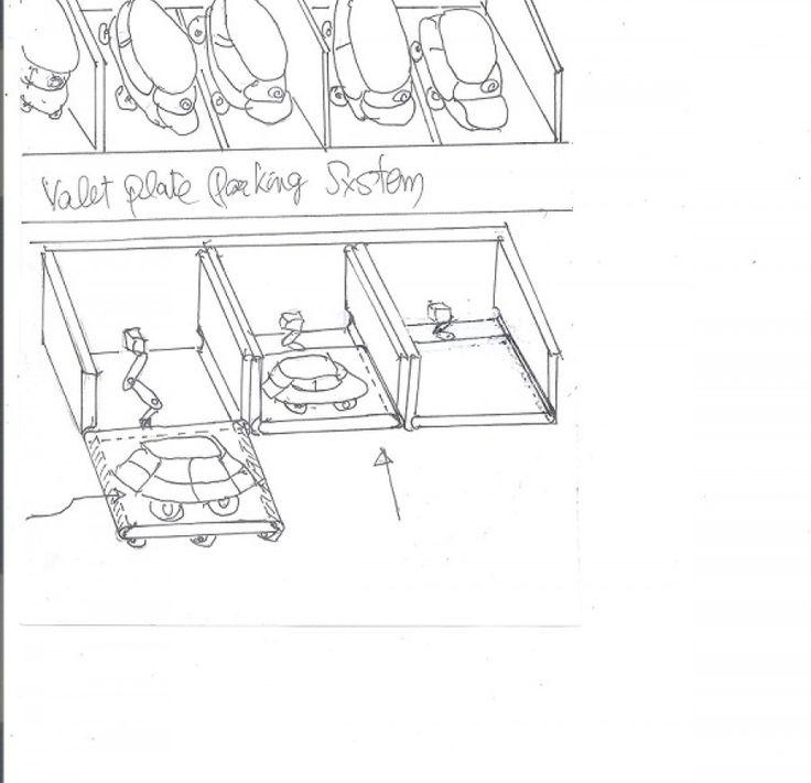valet plate parking system