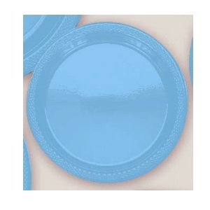 "Plastic Caribbean Dessert Plates. Plastic 7"" Dessert Plates Solid Colours.There are 20 Solid Colour Plastic 7"" Dessert plates per package. They come in 22 colours and are a great party accessory where you want to match a colour and you also want a plate that is stronger than paper."