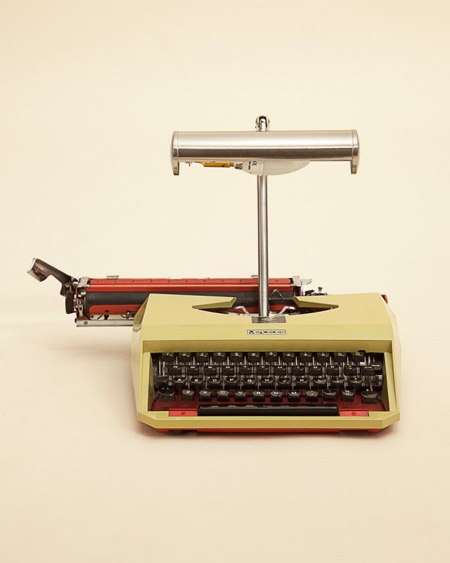 A Mercedes Typewriter recreated into a quirky desk lamp.
