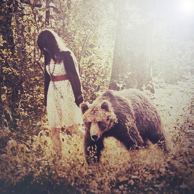 """When I get home, been in the jungle, where's my bear to lick me clean, feed my soul milk and honey?"" ~ 'Moon and Moon' (Bat for Lashes)"