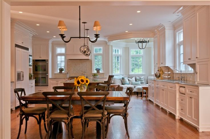 """Transformations of a New England-Style Home with 21st Century Embellishments.. LOVE the """"sitting bay"""", but MORE COLOR is needed for me!"""