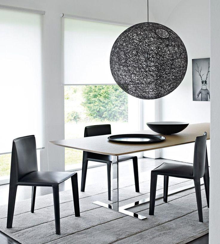 Пьедестал стол / современный / стекло / древесный шпон - УЮТНЫЙ - B & B Italia