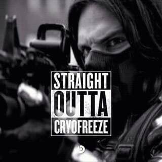 Uh huhhhh straight outta cryofreeze Bucky Barnes Winter Soldier