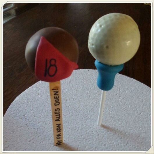 Golf Cakepops. Made by The Dotted Apron Bloemfontein. https://m.facebook.com/profile.php?id=703914623013978&refsrc=https%3A%2F%2Fwww.facebook.com%2Fpages%2FThe-Dotted-Apron%2F703914623013978