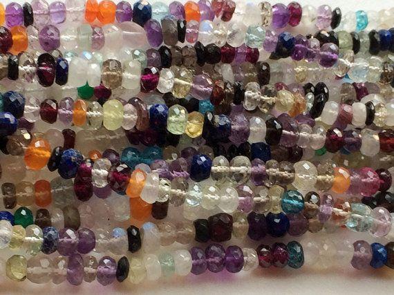 Multi Gemstone Disco Beads Multi Gems Faceted by gemsforjewels
