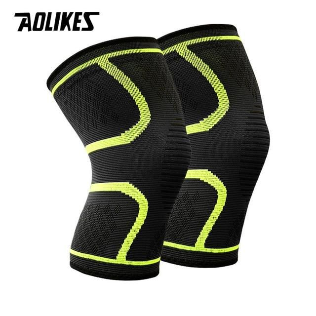Sports Professional Knees Pads Breathable Elastic Knee Support Fitness Protection Basketball Running Sports In 2020 Knee Support Braces Sports Braces Knee Support