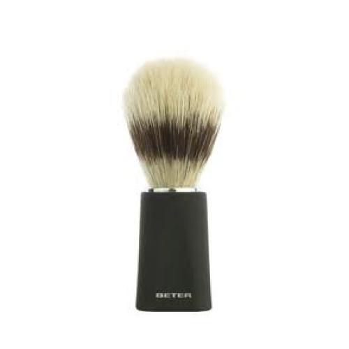 Beter Beter brocha afeitadora mango negro Brocha de afeitar mango negro, pelo natural mixto , permite extender el jabón de forma uniforme, a la vez que prepara la piel para el afeitado