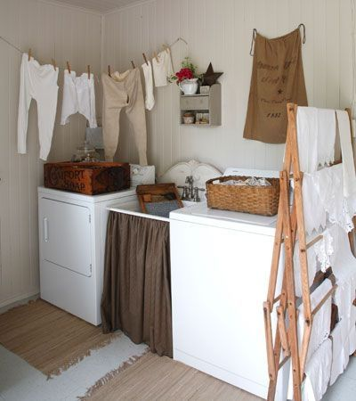 Long Underwear Hung On A Clothesline Adds Old Fashioned Charm To The Laundry  Room.