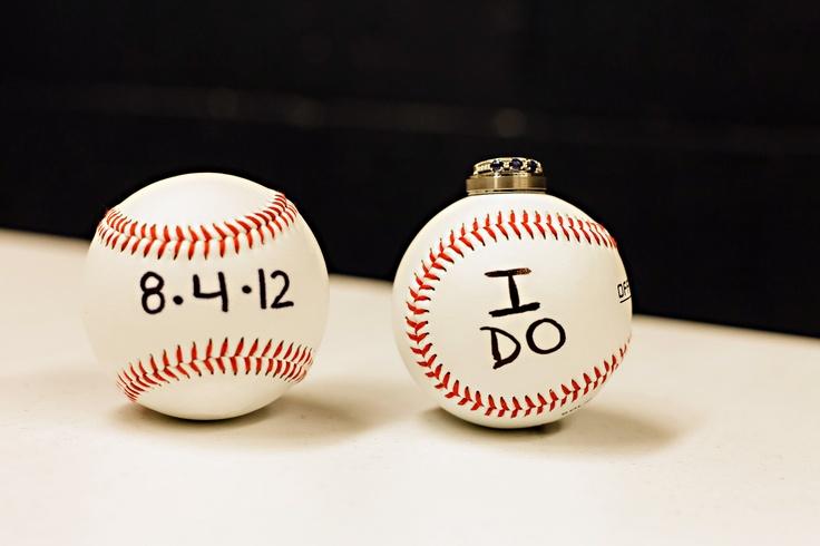 Baseball Wedding Ring Photo Idea Wedding Ideas Pinterest