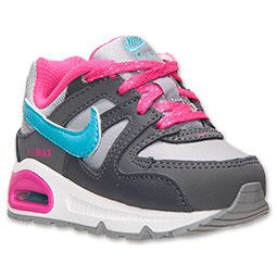 Girls' Toddler Nike Air Max Command Running Shoes | FinishLine.com | Wolf Grey/Pink Foil/Gamma Blue