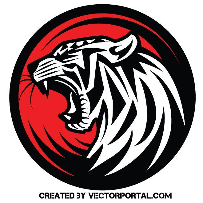 Tiger Vector Clip Art Logotype Logo Keren Hewan Binatang Tiger Vector Tiger Art Silhouette Art