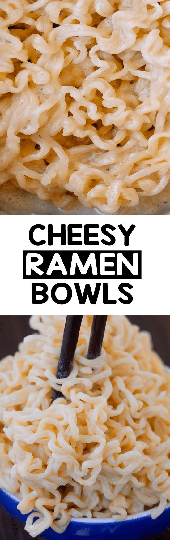 Cheesy Ramen Bowl Easy, healthy, savory comfort food in a bowl.