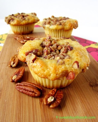 Bananas Foster Muffins Recipe www.tablescapesbydesign.com https://www.facebook.com/pages/Tablescapes-By-Design/129811416695
