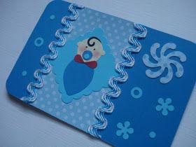 C onvite de Chá de Bebê - azul     Papel color plus na cor azul escuro, no detalhe um lindo bebezinho e fita decorativa.   Medindo 7cm x...