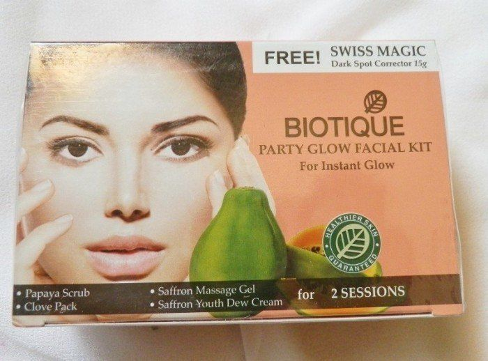 #Biotique #PartyGlow #Facial #Kit #review #price and details on the blog