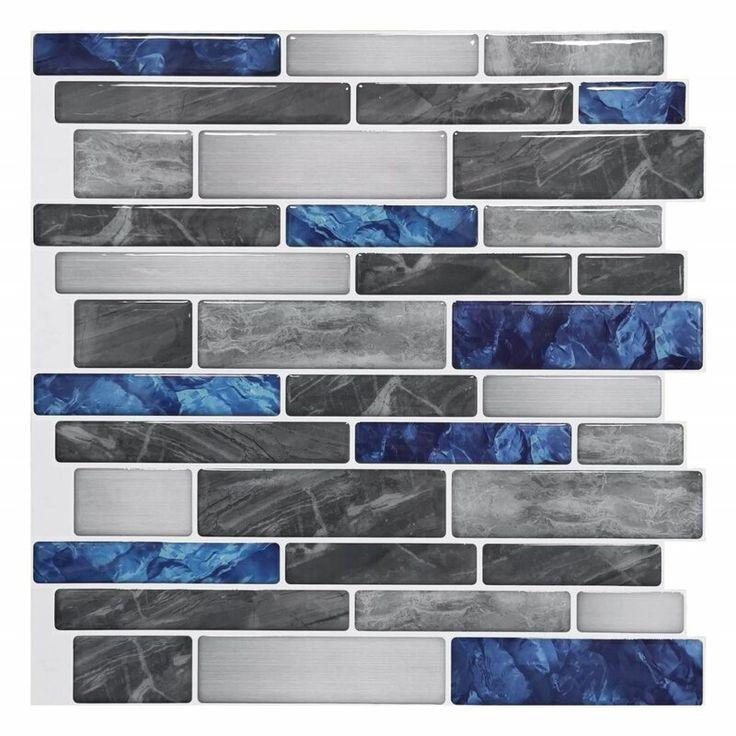 "12"" x 12"" Gel Peel & Stick Subway Tile Tile backsplash"