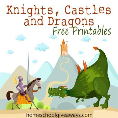 FREE Knights, Castles and Dragons Printables
