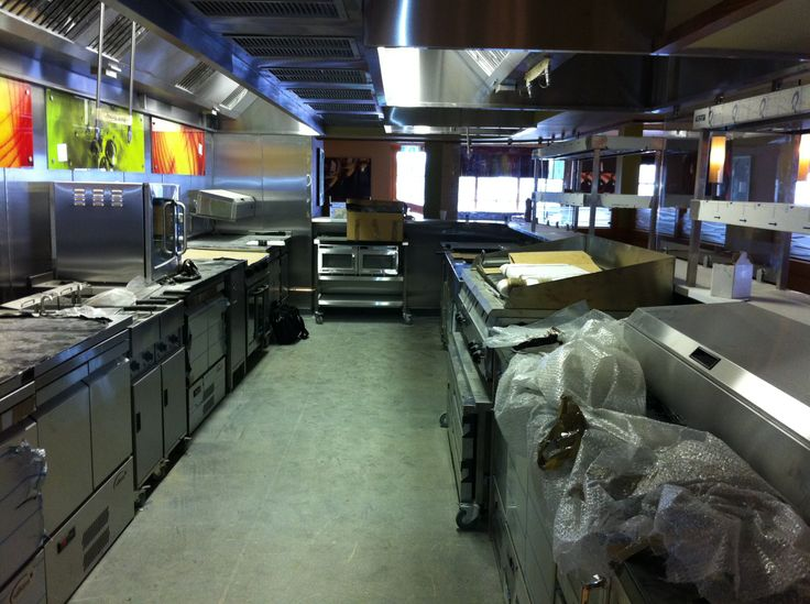 Every new Restaurant needs a new Kitchen and this one is fully equipped with state-of-the-art ovens, grills, dishwashers, refrigerators and freezers. #kitchen #catering #hospitality