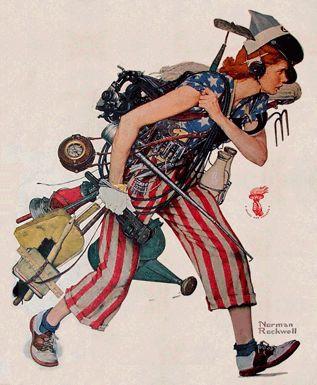 Norman Rockwell's 'Rosie the Riveter' update for Labor Day,1943
