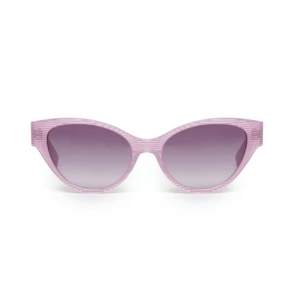 Pink Stripe Cateye Sunglasses | Heidi London | Wolf & Badger