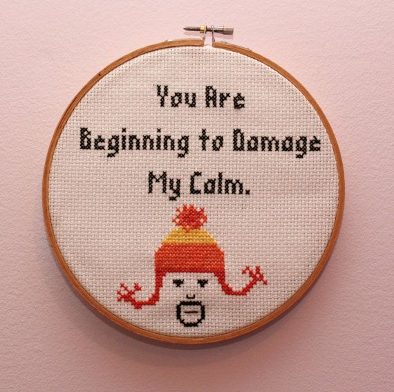 Firefly Jayne You Are Beginning to Damage My Calm Completed Cross Stitch
