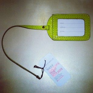 Coccinelle Luggage Tag - Find out more on http://instagram.com/soapmotion