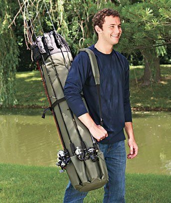 1000 images about fishing rod rack on pinterest rolling for Fishing rod tote
