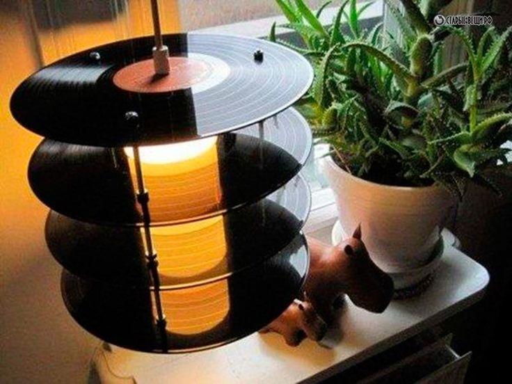 Люстры и светильники из виниловых пластинок - Виниловая пластинка. Поделки из старых виниловых пластинок своими руками - Вторая жизнь старых вещей - Портал о старых вещах. За пиво.Да