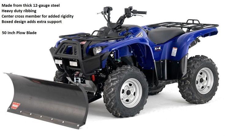 50 Inch Straight Plow Blade For ATV ORV 4 Wheeler Snow Winter Driveway Runway #Warn