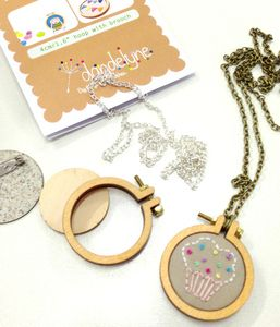 DIY Miniature embroidery hoop kit $12