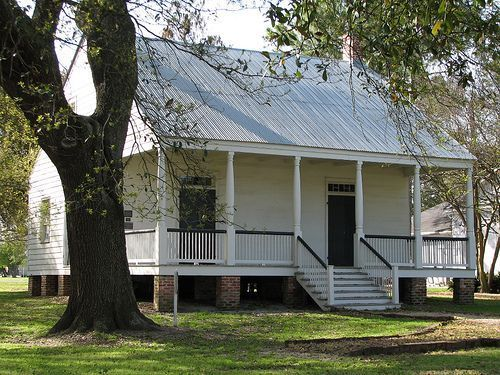The french creole aillet house was built in 1830 the Cajun cottage plans