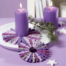Purple candle trivets