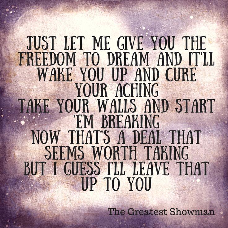 Greatest Showman Lyrics