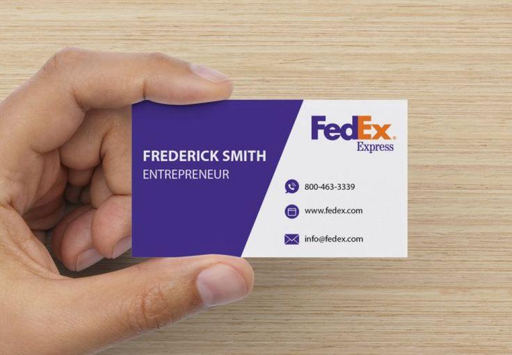 Fedex visitkort fedex visitkort mockup design