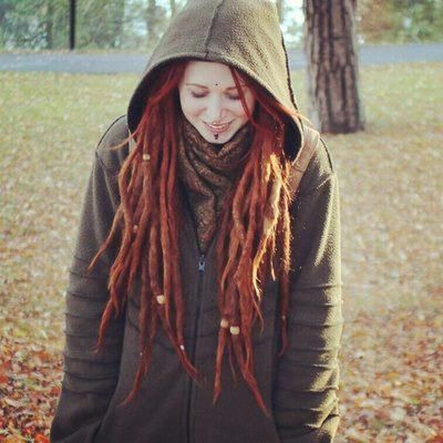 Natural Red Dreads Hair Pinterest Dreads Red Dreads
