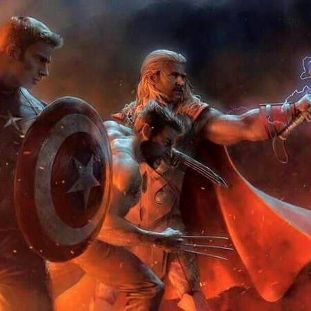 "168 Likes, 4 Comments - The.Captain.America (@the.captain.america01) on Instagram: ""#captainamerica #Thor #wolverine #avengers #marvel #artwork #mcu credit to owner"""
