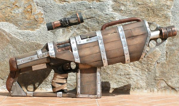 Some inspiration for the Shadow Guard weaponry. I could imagine this firing some kind of dart that could be coated in various concoctions.